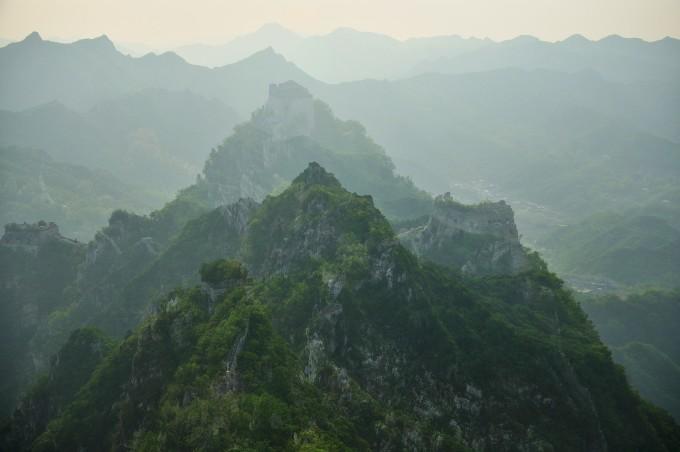 萬里長城書包北京風景